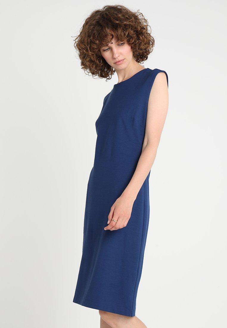 Banana Republic - CAP SHEATH - Vestido ligero - deep blue