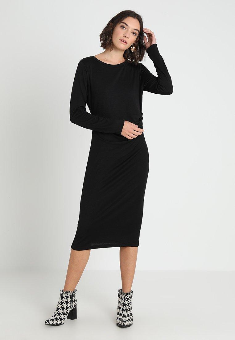 Banana Republic - SIDE TWIST COZY SHEATH DRESS - Jersey dress - black