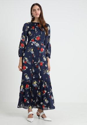 PINTUCK PATRIZIA FLORAL DRESS - Maxi dress - preppy navy