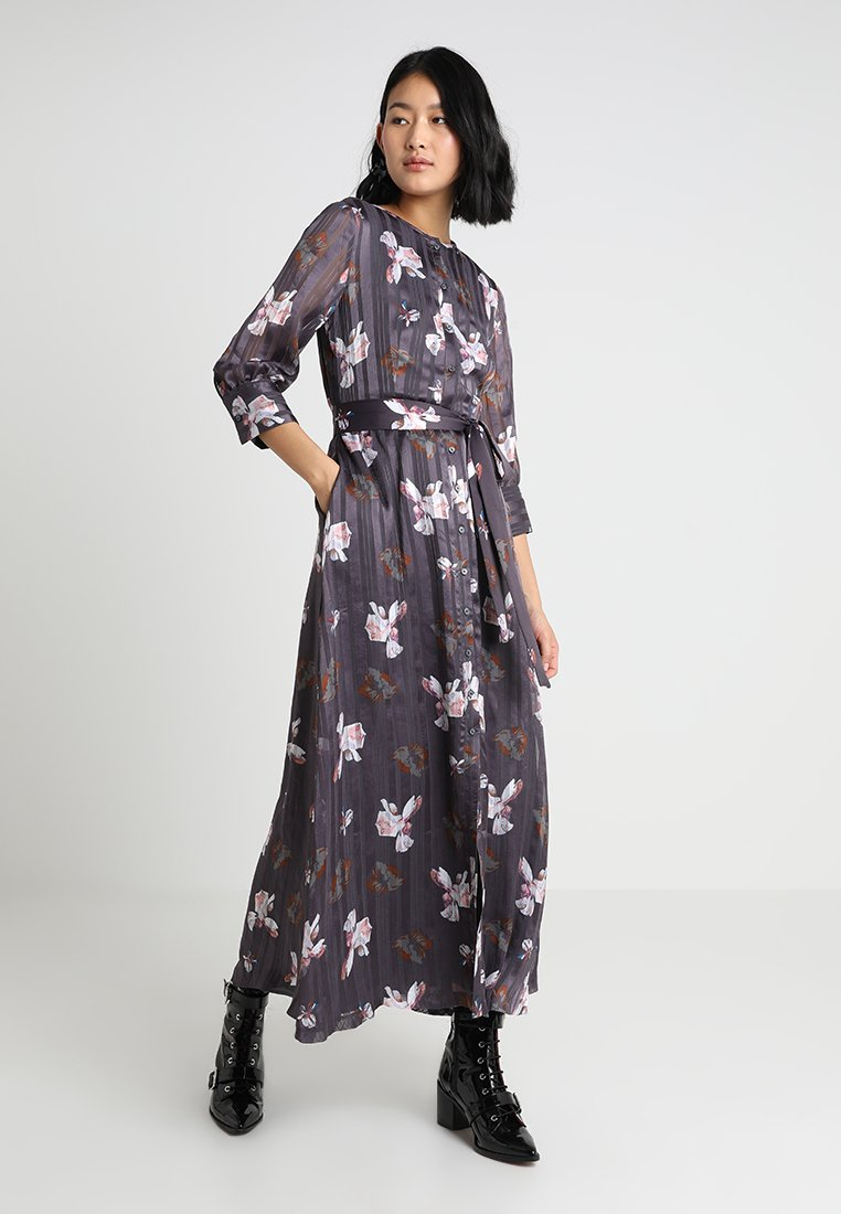 Banana Republic - ABIGAIL FLORAL DRESS BELT - Maxi dress - grey