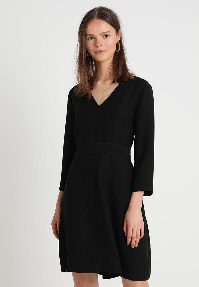 VNECK SOLID - Cocktail dress / Party dress - black