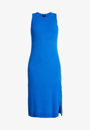 SWEATER RIB SOLID COLUMN DRESS - Abito in maglia - sapphire blue