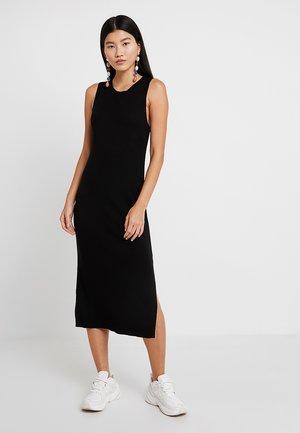 SWEATER RIB SOLID COLUMN DRESS - Jumper dress - black