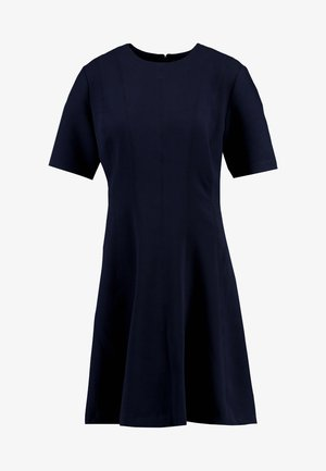 LINEAR SEAMED DRESS - Jersey dress - preppy navy