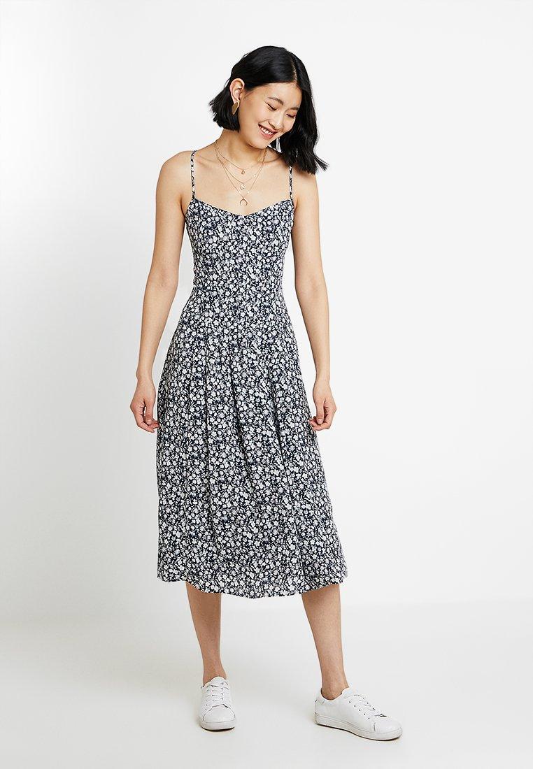 Banana Republic - PINTUCK DRESS PRINT - Day dress - navy combo