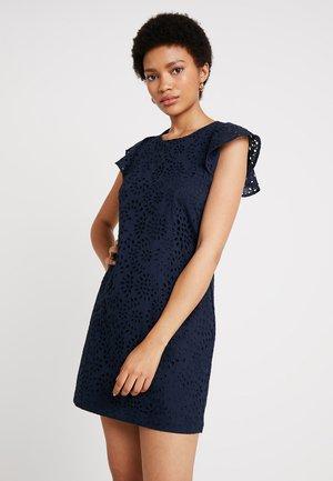 EYELET MINI SHIFT DRESS - Vestito estivo - preppy navy