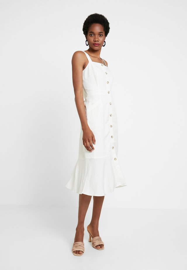 MIDI DRESS - Blusenkleid - white