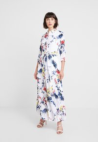Banana Republic - SAVANNAH DRESS FLORAL TROPICAL BLOOMS - Maxikjole - white - 0