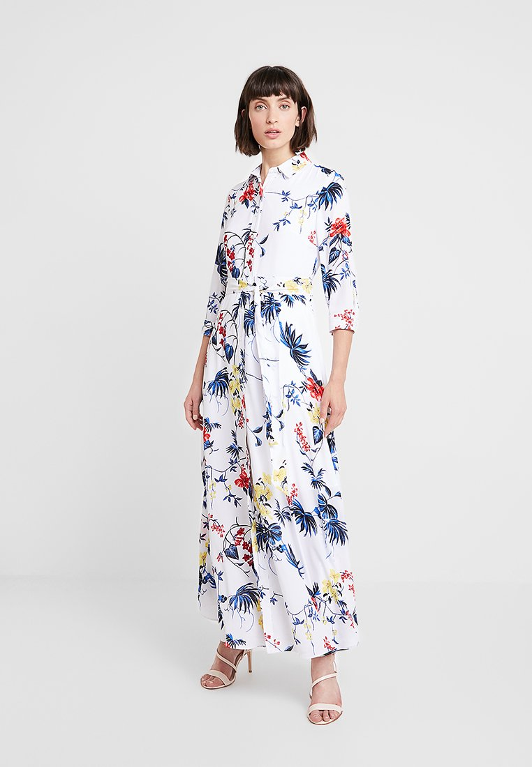 Banana Republic - SAVANNAH DRESS FLORAL TROPICAL BLOOMS - Maxikjole - white