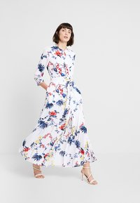 Banana Republic - SAVANNAH DRESS FLORAL TROPICAL BLOOMS - Maxikjole - white - 1