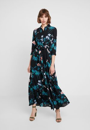 SAVANNAH DRESS FLORAL TROPICAL BLOOMS - Maxi dress - black