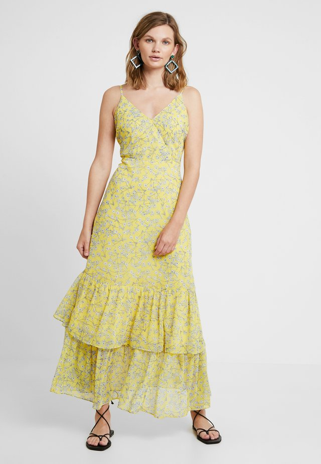 PRINTED TIERED - Maxikjoler - yellow