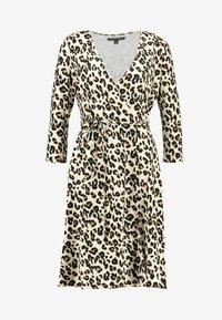 Banana Republic - WRAP DRESS PRINT - Vestito di maglina - brown - 4