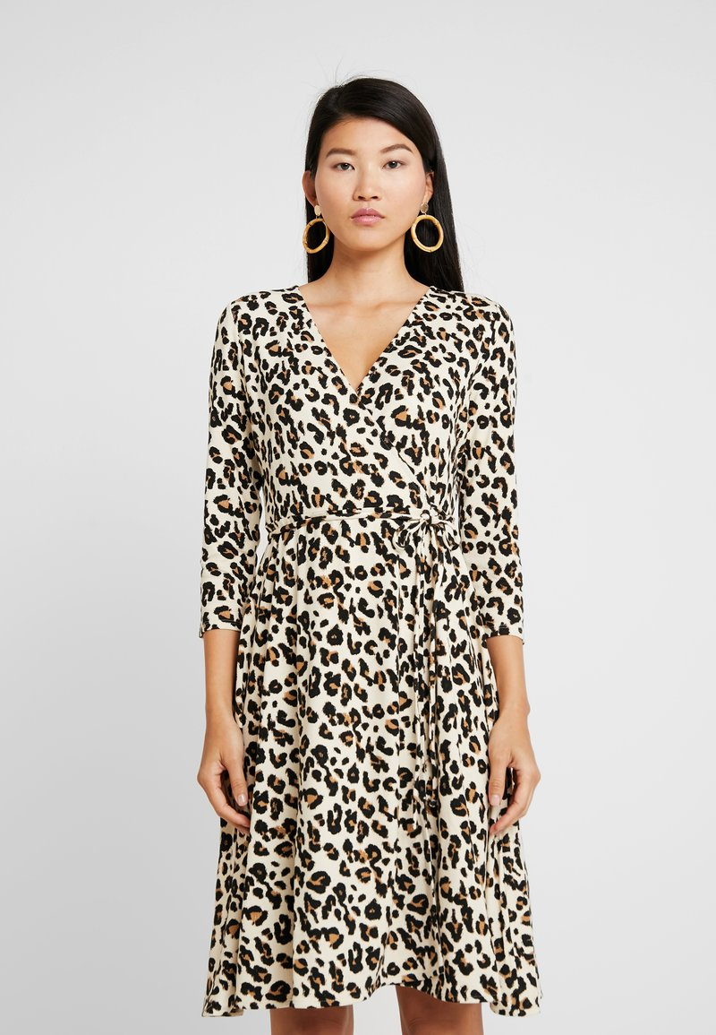 Banana Republic - WRAP DRESS PRINT - Jerseykleid - brown