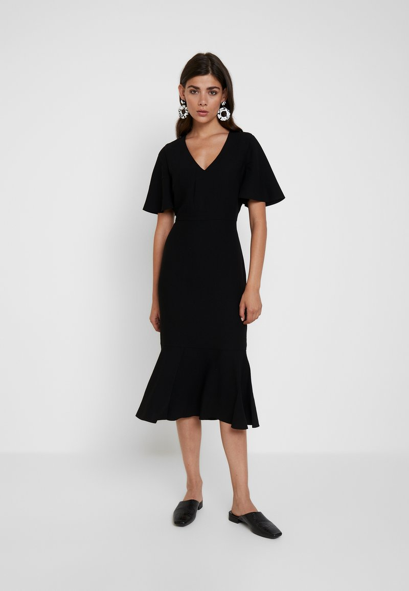 Banana Republic - MIDI SHEATH HEM - Denní šaty - black