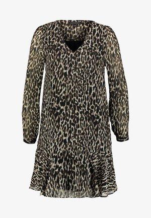 FLOUNCE HEM V NECK DRESS - Kjole - leopard