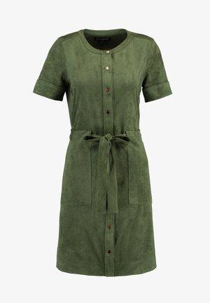 VEGAN DRESS - Sukienka koszulowa - sage