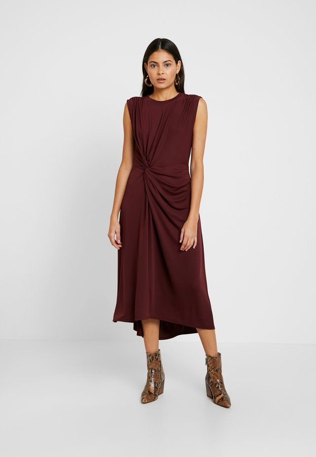 TWIST MATTE DRESS SOLIDS - Vestito di maglina - burgundy