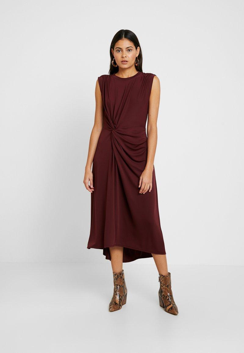 Banana Republic - TWIST MATTE DRESS SOLIDS - Jerseyjurk - burgundy