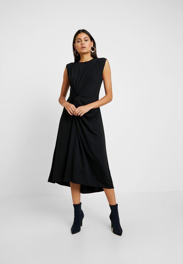 TWIST MATTE DRESS SOLIDS - Vestito di maglina - black