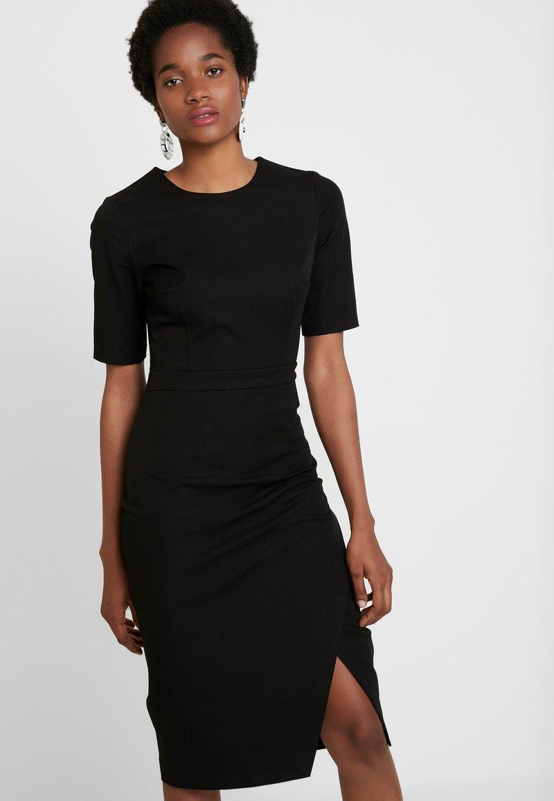 Banana Republic - WRAP SKIRT SHEATH SOLID - Shift dress - black