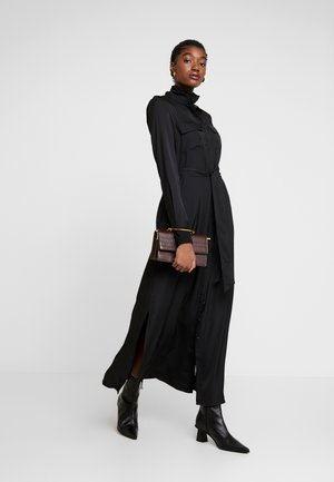UTILITY SHIRTDRESS - Maxi šaty - black