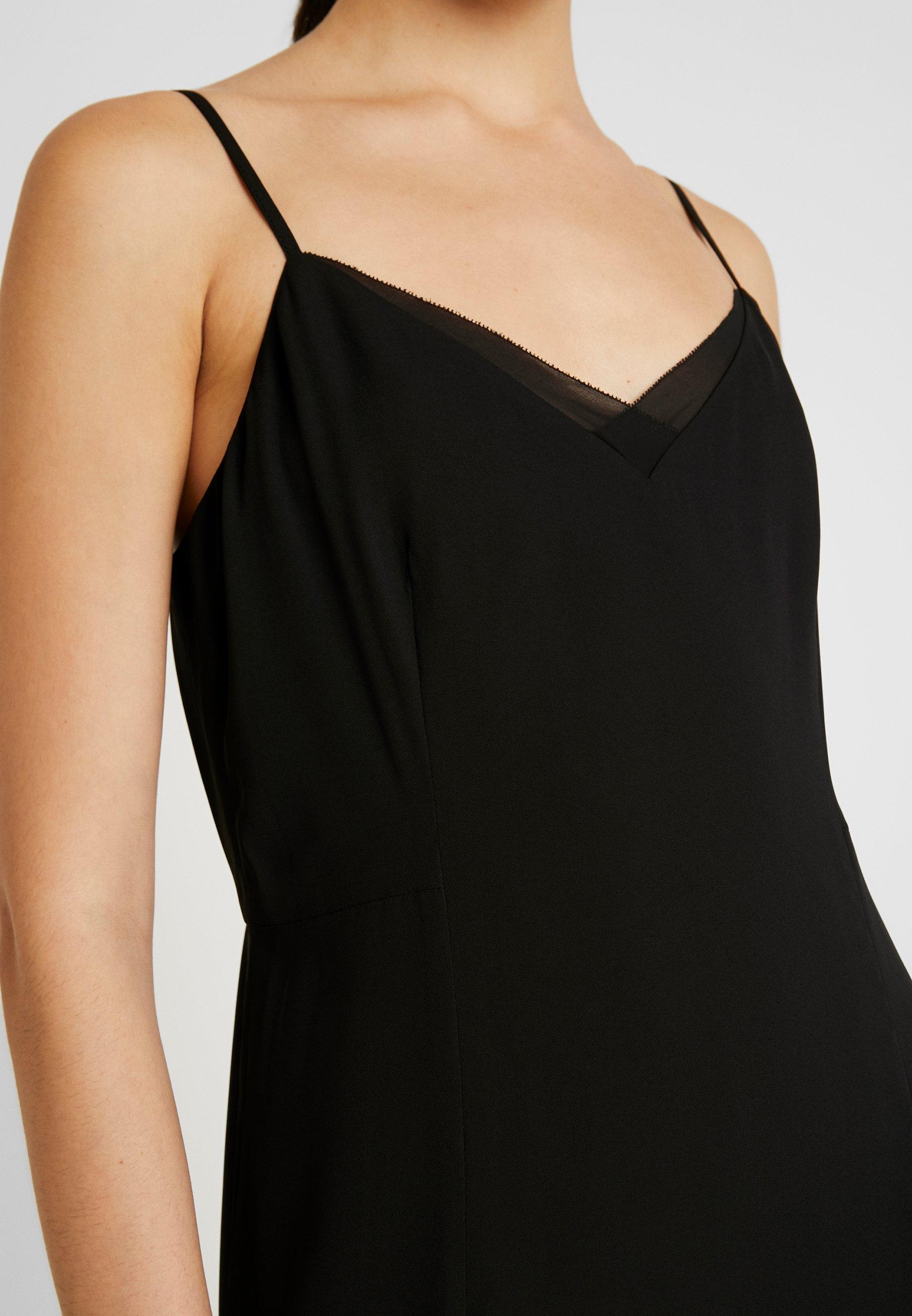 Banana Republic VNECK FLOUNCE HEM SHEATH TRIM - Sukienka letnia - black