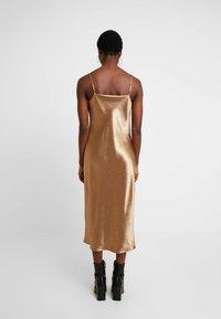 Banana Republic - COWL BIAS MIDI - Day dress - amber - 3