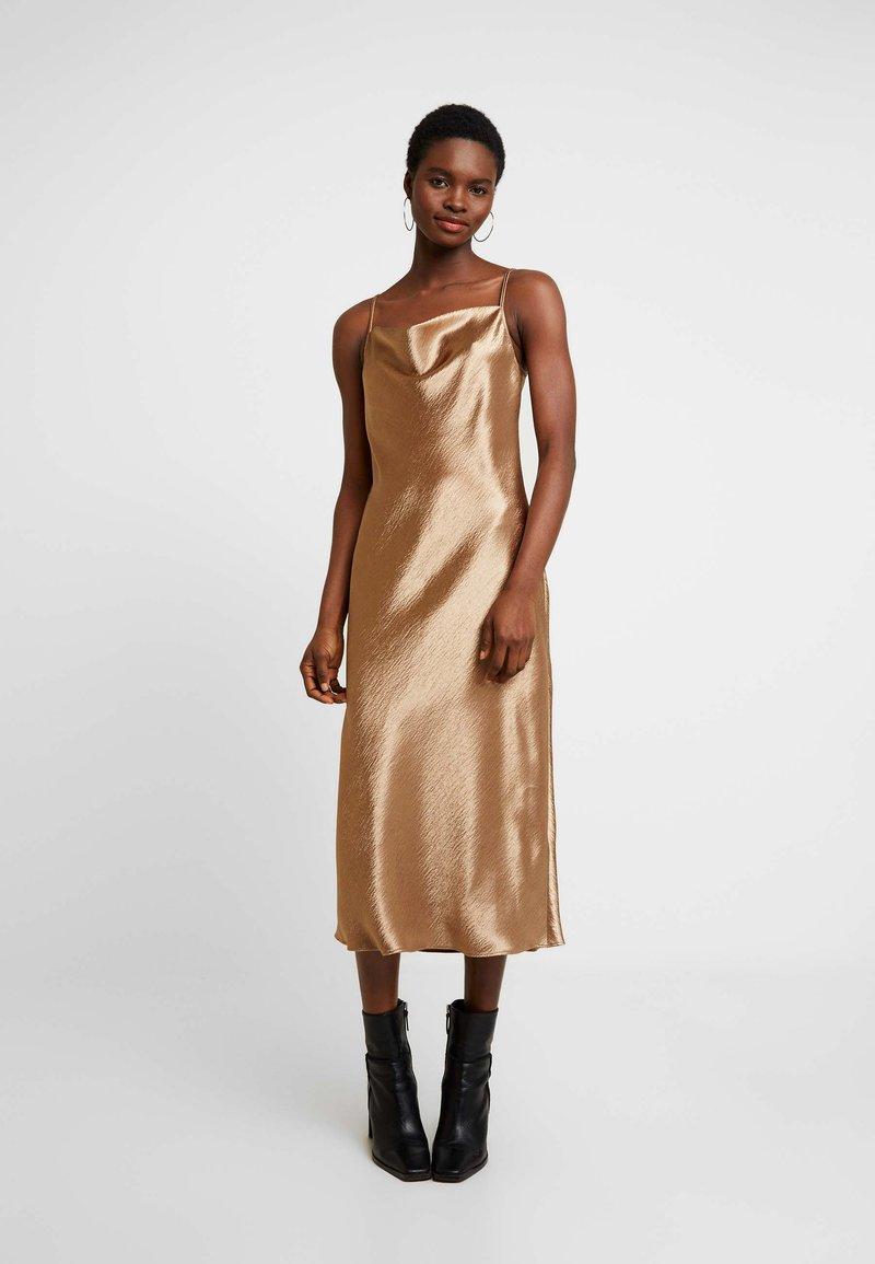 Banana Republic - COWL BIAS MIDI - Day dress - amber