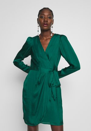 WRAP SHEATH SOLID SOFT - Robe d'été - emerald green