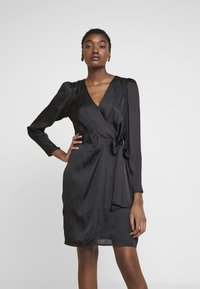 Banana Republic - WRAP SHEATH SOLID SOFT - Day dress - black - 0