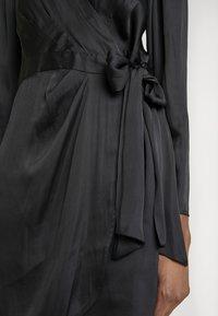 Banana Republic - WRAP SHEATH SOLID SOFT - Day dress - black - 6