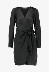 Banana Republic - WRAP SHEATH SOLID SOFT - Day dress - black - 5