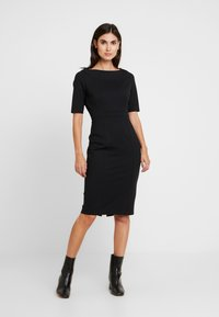 Banana Republic - BOATNECK PONTE SHEATH - Shift dress - black - 0