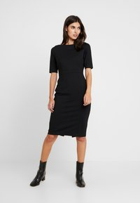 Banana Republic - BOATNECK PONTE SHEATH - Shift dress - black - 2