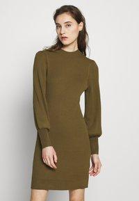 Banana Republic - CREW PUFF SHEATH - Jumper dress - cindered olive - 0