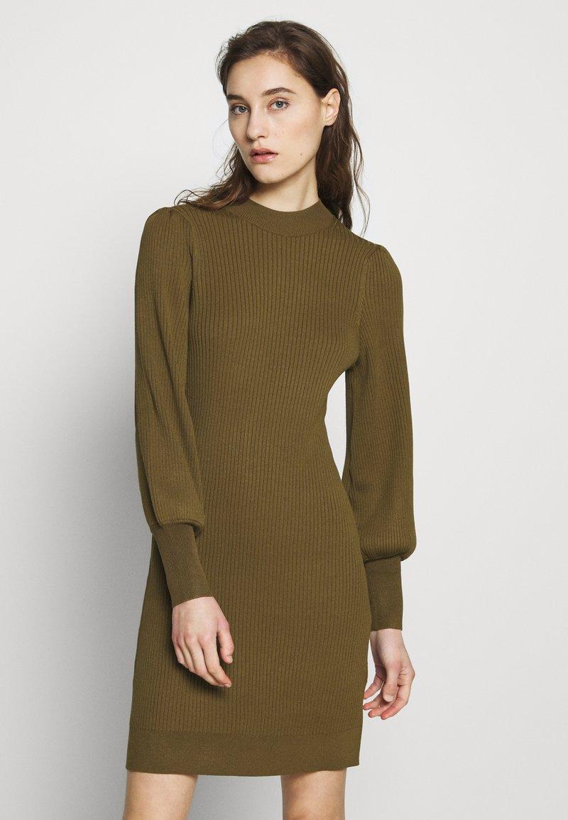 Banana Republic - CREW PUFF SHEATH - Jumper dress - cindered olive