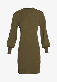Banana Republic - CREW PUFF SHEATH - Jumper dress - cindered olive - 4
