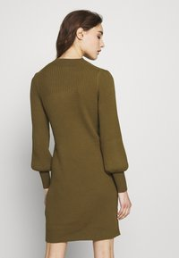 Banana Republic - CREW PUFF SHEATH - Jumper dress - cindered olive - 2