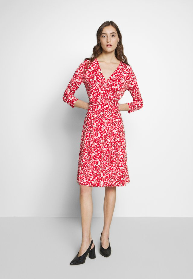 WRAP DRESS PRINT - Jerseyklänning - pink