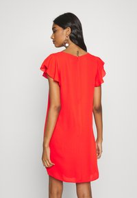Banana Republic - RUFFLED MINI SWING DRESS - Vestito estivo - hot red - 2