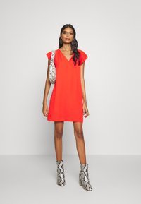 Banana Republic - RUFFLED MINI SWING DRESS - Vestito estivo - hot red - 1