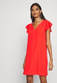 Banana Republic - RUFFLED MINI SWING DRESS - Vestito estivo - hot red - 3