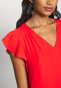 Banana Republic - RUFFLED MINI SWING DRESS - Vestito estivo - hot red - 5