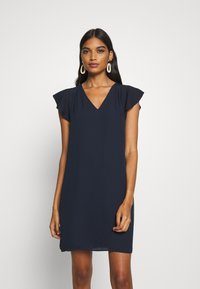 Banana Republic - RUFFLED MINI SWING DRESS - Vestito estivo - preppy navy - 0