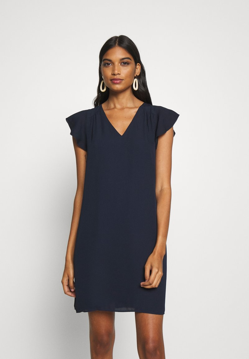 Banana Republic - RUFFLED MINI SWING DRESS - Vestito estivo - preppy navy