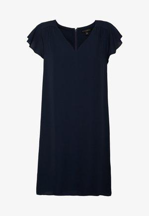 RUFFLED MINI SWING DRESS - Day dress - preppy navy