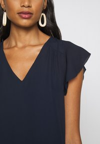Banana Republic - RUFFLED MINI SWING DRESS - Vestito estivo - preppy navy - 5