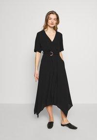 Banana Republic - RING WRAP SOLID - Day dress - black - 1
