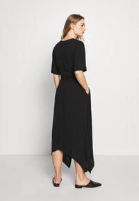 Banana Republic - RING WRAP SOLID - Day dress - black - 2